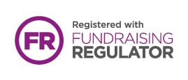 Registered with Fundraising Regulator badge